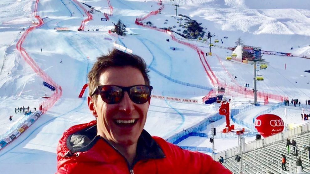 Lukas Schweighofer als Moderator bei der Ski-WM in St. Moritz © Lukas Schweighofer