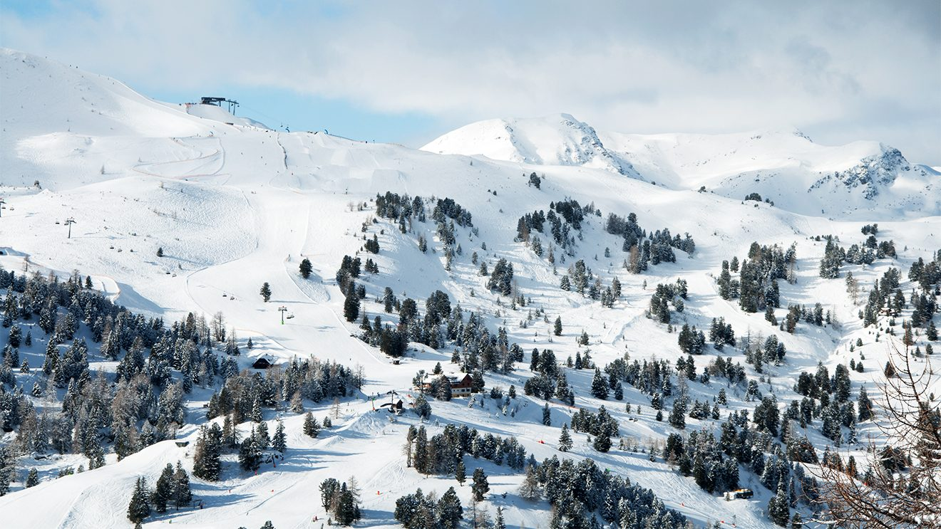Die Kornockbahn öffnet viele Wege ins Tal © Skiing Penguin