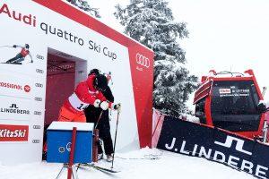 Am Start vom Audi quattro Ski Cup in Kitzbühel © Skiing Penguin