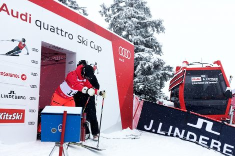 Am Start vom Audi quattro Ski Cup in Kitzbühel © Skiing Penguin
