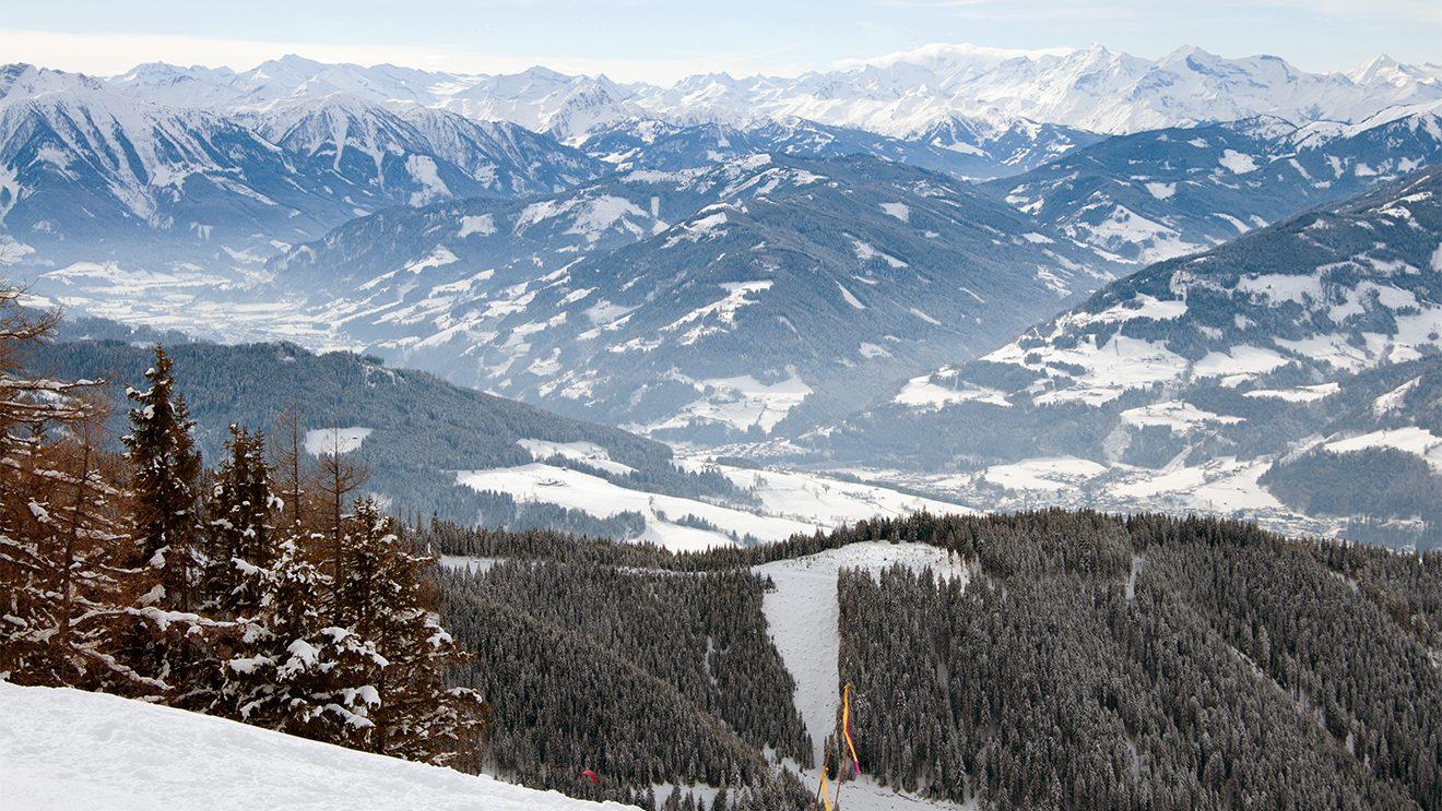 Der Name verspricht nicht zu viel: Panorama so weit das Auge reicht © Skiing Penguin