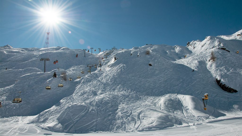 Vier markierte Freeriderouten enden am Langwiedboden © Skiing Penguin