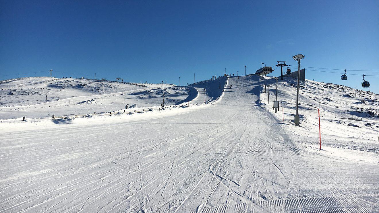 Steil werden die Pisten in Levi erst im unteren Bereich © Skiing Penguin