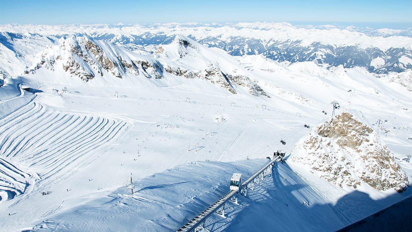 Das Gletscherplateau am Kitzsteinhorn © Skiing Penguin
