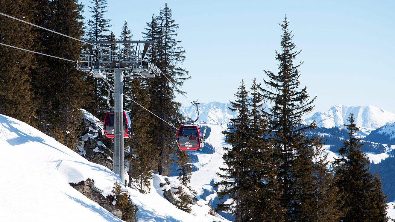 Die KiWest-Bahn ist der östlichste Einstieg in des Skigebiet Westendorf © Skiing Penguin