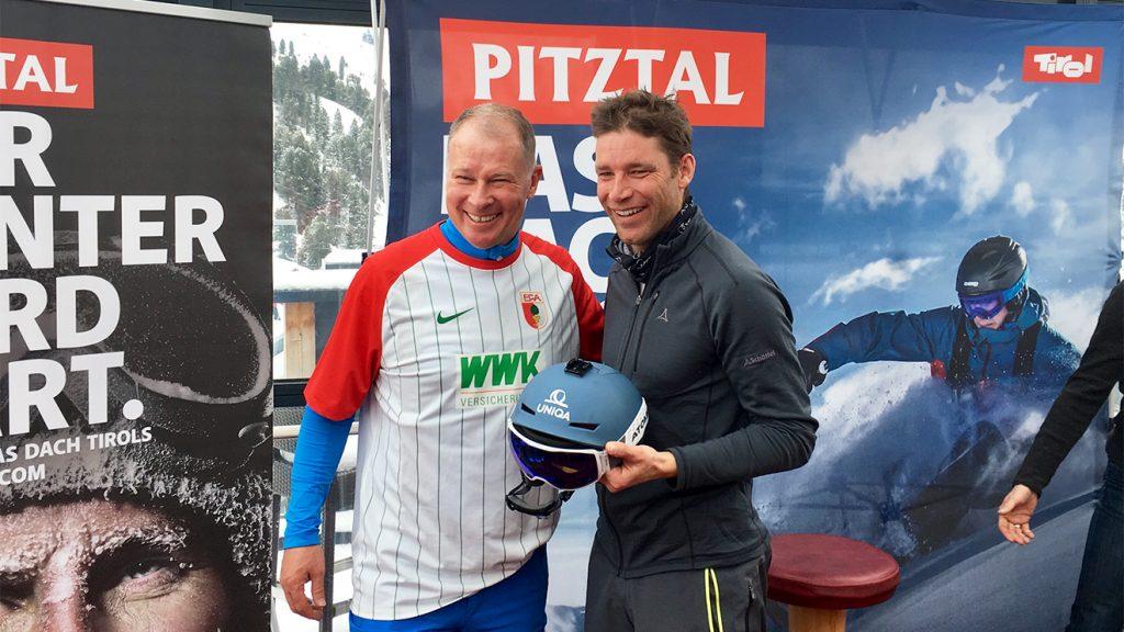 Augsburg-Manager Stefan Reuter und Benjamin Raich © Skiing Penguin