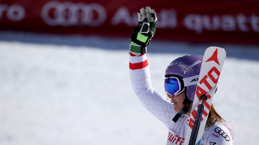 Michalea Kirchgasser bei ihren letzten Weltmeisterschaften in St. Moritz © ATOMIC Austria GmbH / GEPA pictures / Andreas Pranter