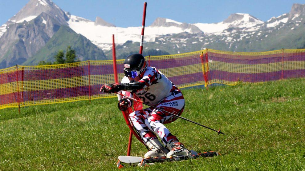 Momentaufnahme beim Riesentorlauf © Grasski.at