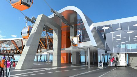 Futuristisch wirkt die Talstation der neuen Schlossalmbahn © Gasteiner Bergbahnen