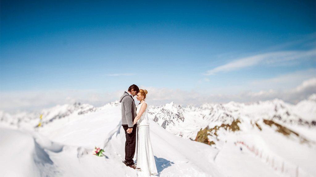 An so einem Tag spürt man die Kälte offensichtlich nicht so sehr © Pitztaler Gletscherbahn