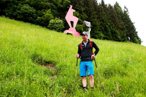 Guide Benjamin Raich im Zielhang der Streif @ Skiing Penguin