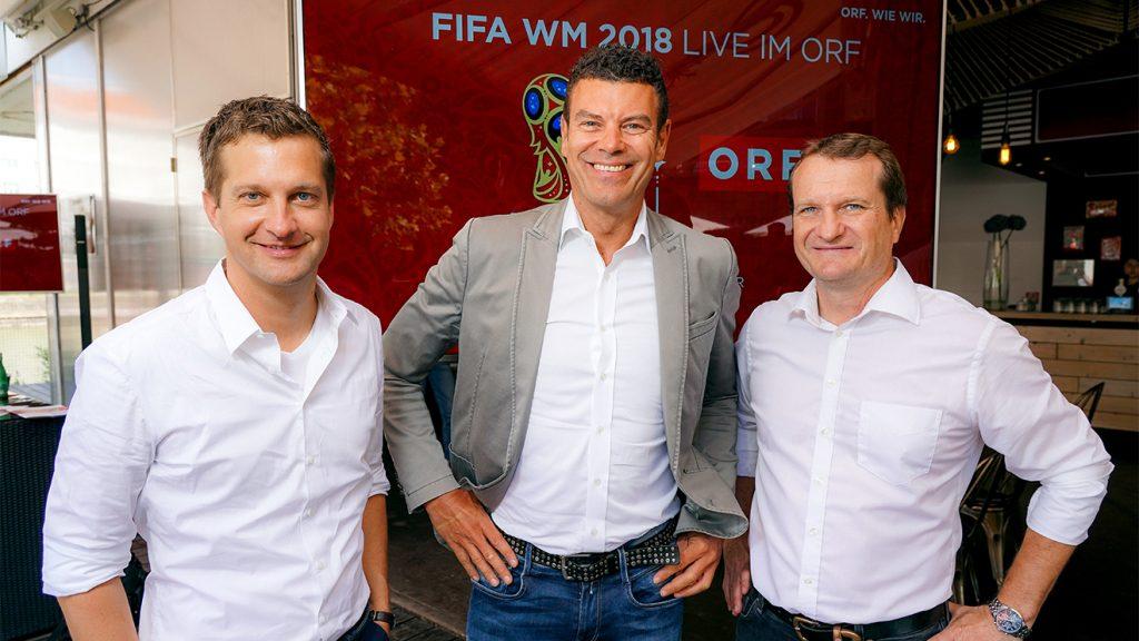 Oliver Polzer, Bernhard Stöhr und Thomas Janeschitz © ORF