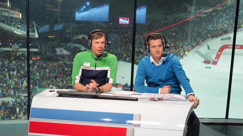 Thomas Sykora und Oliver Polzer beim Nightrace in Schladming © ORF