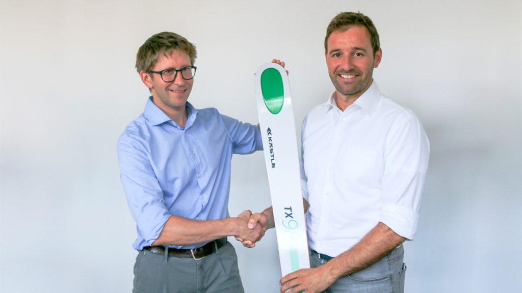 Der neue Kästle-Chef Clemens Tinzl (l.) mit Vorgänger Bernd Knünz © Kästle