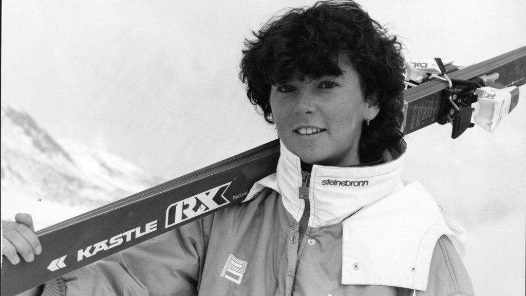 Die Vorarlbergerin Anita Wachter fuhr Ski aus ihrer Heimat © Kästle