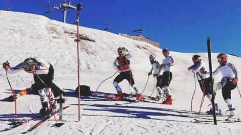 Die DSV-Herren beim Training in Valle Nevado © Instagram / DSV Alpin