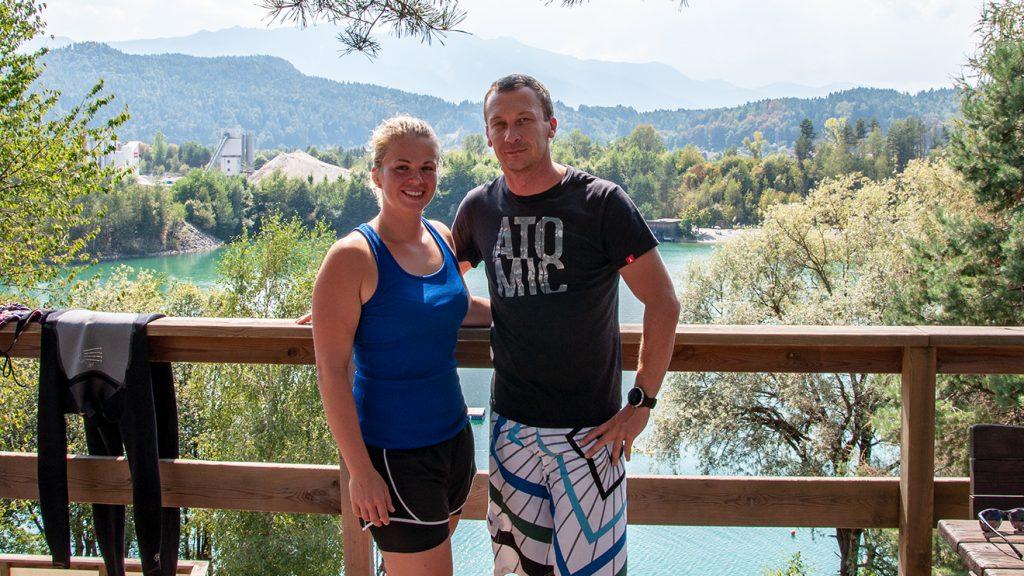 Melanie Meilinger und ihr Trainer Aleš Špan © Skiing Penguin