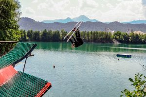 Melanie Meilinger beim Training auf der Waterramp © Skiing Penguin