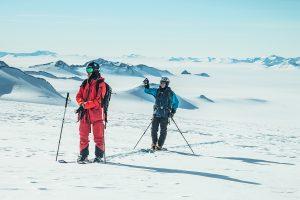 Matthias Mayr und Matthias Haunholder in der Eiswüste © Johannes Aitzetmüller