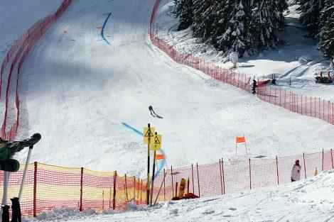 Der Slowene Klemen Kosi bei seinem Trainingslauf. Am Freitag fuhr er in Wengen noch die Kombination © Skiing Penguin