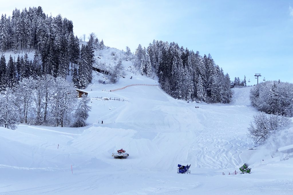 Der Ganslernhang am 11. Jänner. Am 27. Jänner wird der Slalom gesteckt © Skiing Penguin