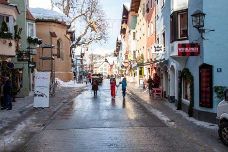 Kitzbühel am 19. Jänner 2019, eine Woche vor dem Slalom © Skiing Penguin