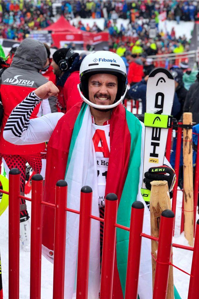 Albert Popov freut sich über Platz 9 in Kitzbühel © Privat