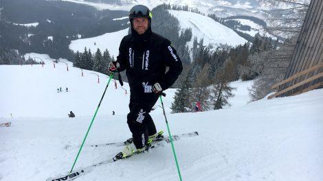 Hans Grugger am 2. März an der Mausefalle © Skiing Penguin