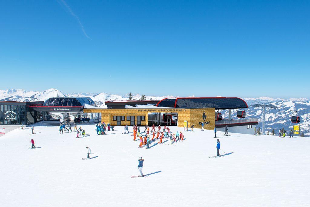 Die neue Bergstation an der Ochsalmbahn © Bergbahn Kitzbühel