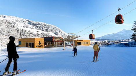Die Talstation der neuen Fleckalmbahn © Bergbahn Kitzbühel