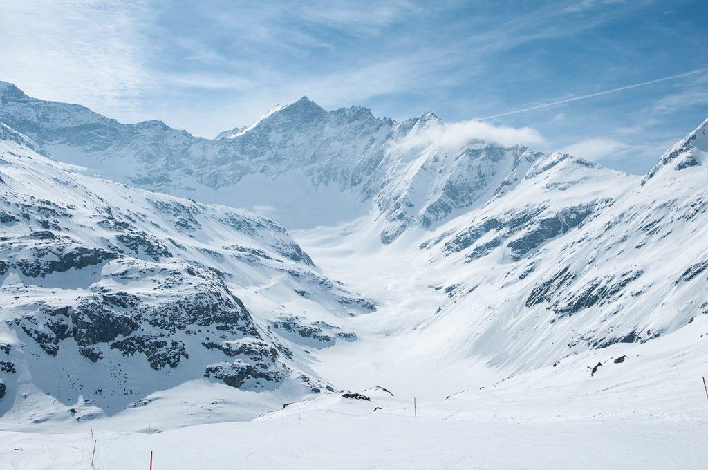 Ein ständiger Begleiter ist der Ausblick auf das Ödenwinkelkees © Skiing Penguin