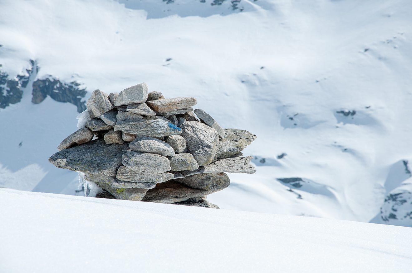 Kleine Stoanamandl sind überall in der Gletscherwelt zu sehen © Skiing Penguin