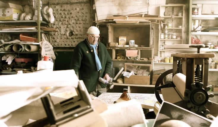Reinhold Drugowitsch in seiner Werkstatt © Reinhold Drugowitsch