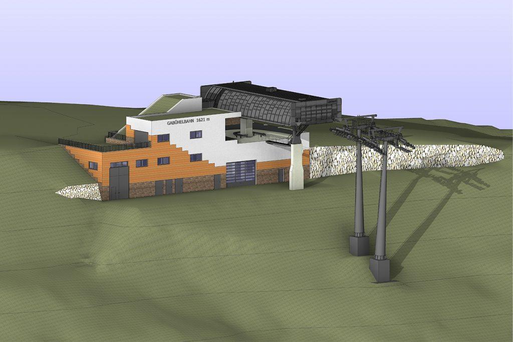 Die Bergstation der neuen Gabühelbahn wird etwas nach oben versetzt © Hochkönig Bergbahnen AG