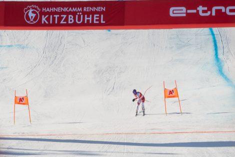 Beat Feuz tanzte regelrecht ins Ziel. Das bescherte dem Schweizer Platz 7 © Skiing Penguin