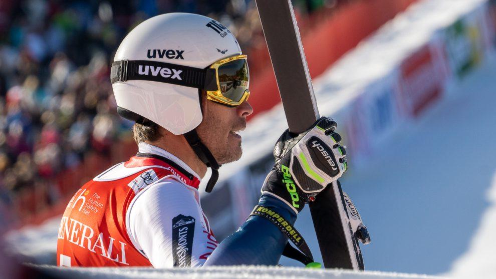 Johan Clarey, Schnellster im Abschlusstraining, musste sich im Super-G mit Platz 11 begnügen © Skiing Penguin