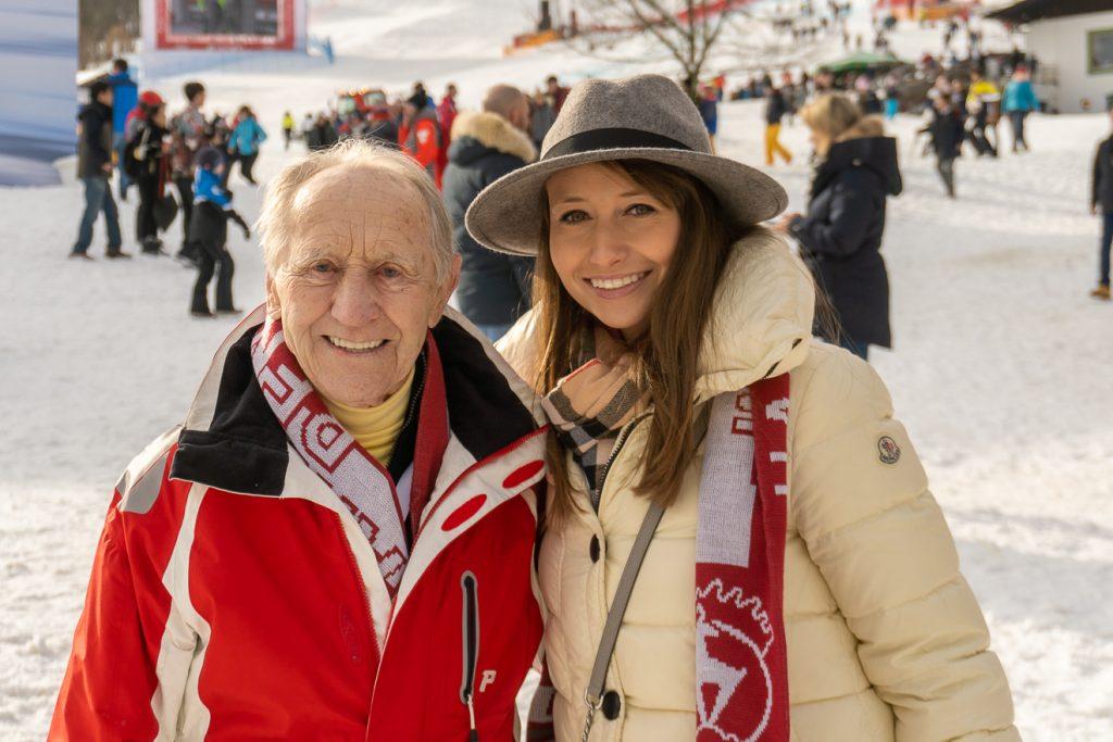 Anderl Molterer mit seiner Nichte Stefanie © Skiing Penguin
