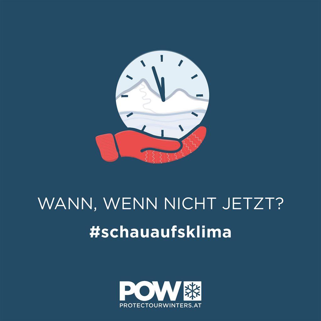 Die POW-Aktion mit dem entsprechenden Hashtag © POW Austria