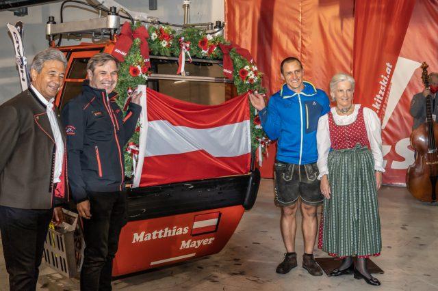 "Matthias Mayer mit ""seiner"" Gondel © Skiing Penguin"