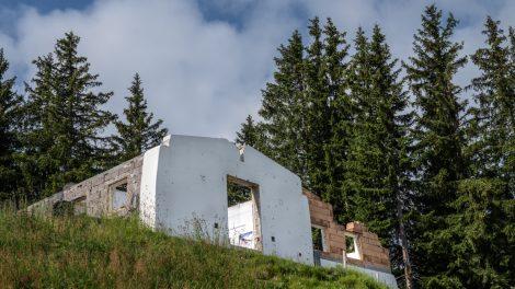 Das alte Starthaus am 25. Juli © Skiing Penguin