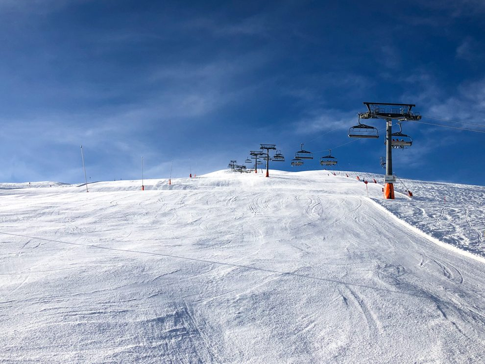 Leere Pisten rund um den Pass Thurn am 4. Jänner © Skiing Penguin