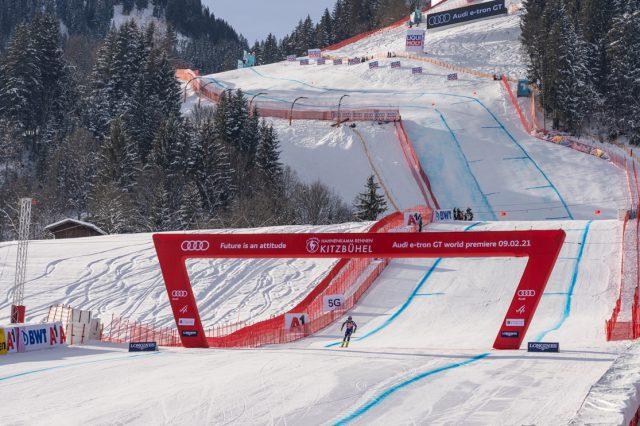 Keine Fans, dafür Kaiserwetter beim ersten Training auf der Streif © Skiing Penguin