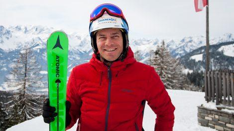 Michael Walchhofer 2018 beim Interview in Werfenweng © Skiing Penguin